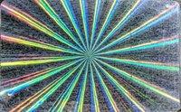 Metallized Radial Sweep Hologram Id Card Overlay