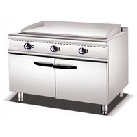 Griddle+Lava Rock Grill Gas With Cabinet 900