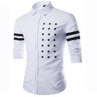 Short Sleeves Star Printed Design Mens Shirts