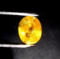 Pukhraj Yellow Sapphire 2.98 Carat (Laboratory Certified)