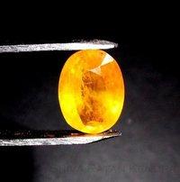 Pukhraj Yellow Sapphire 3.64 Carat (Laboratory Certified)