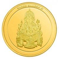 10gm Shri Ganesh Ji Gold Coin 24kt