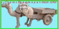 Stone Camel Gadi Sculpture