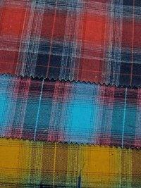 Dyed Cotton Melange Check Fabrics