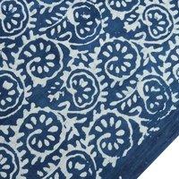 Hand Printed Indigo Blue Fabric