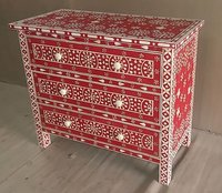 Bone Inlaid Drawers Chest