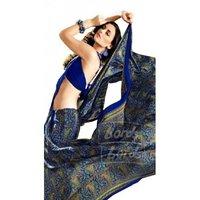Crepe Printed Designer Chiffon Uniform Saree