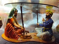 Rajasthani Couple Centre Table