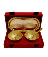 Silver And Gold Plated Brass Bowl Set