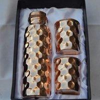 Diamond Hammered Copper Set