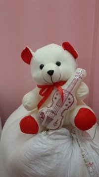 White And Red Teddy Bear