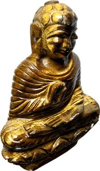 Tiger Eye Healing Crystal Buddha (360 Gram)
