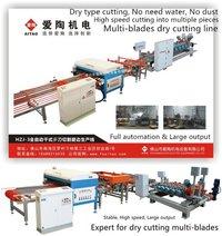 Multi Blade Dry Type Vitrified Tile Cutting Machine Line