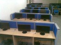 Wooden Cyber Cafe Computer Desk
