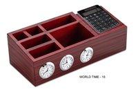 Wooden World Clock