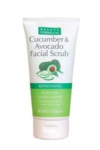 Beauty Formulas Cucumber And Avocado Facial Scrub 150ml