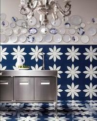 Daisy Glass Agglomerate Tiles