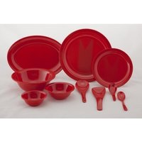 Grape Fruit Red Melamine Dinner Set