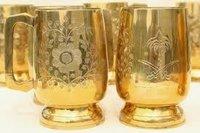 Brass Beer Mug Set