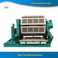 Large Output Egg Tray Making Machines Production Line With Single Layer Metal Dryer