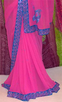 Sarees With Mirror Work