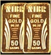 Rectangular Shape Gold Bars