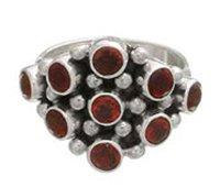 Gemstone Studded Silver Rings