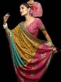 Patch Work Ladies Saree
