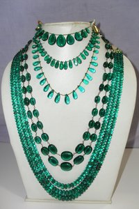 Created Emerald Fancy Beads And Shapes