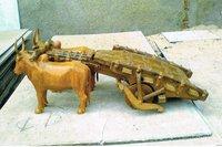Wooden Antique Ox Cart