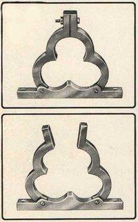 Aluminum Trefoil Clamp Cleat