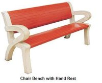 Chair Bench With Hand Rest