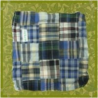 Navy Patchwork Fabric