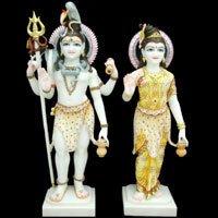 Standing Shiv And Parvati Ji Statues