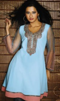 Stylish Georgette Net Sleeves Tops