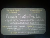 Woven Business Card