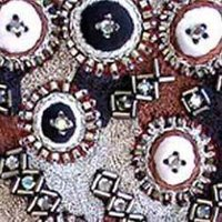 Silver Bead Embroidered Fabrics
