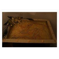 Golden Saree Tray