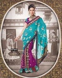 Stone Work Saree