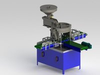 Twin Head Tablet Capsule Counting And Filling Machine