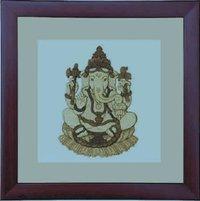 Wooden Carving Of God Ganesh
