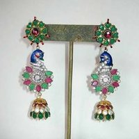 Peacock Type Earring