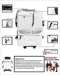 Fashion High Quality PU Trolley Travel Bag