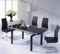 Modern Glass Extending Dining Table