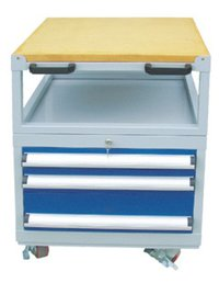 Wooden Top Tool Trolley