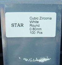 0.8mm Loose White Round Cubic Zirconia Stones