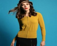 Crew Neck Cardigan Lady Cashmere Sweater