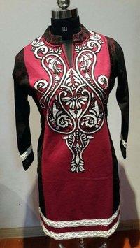Designer Embroidered Woolen Kurtis