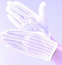 Esd Gloves With Pvc Dotts