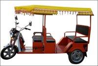 Industrial Red Color Battery Rickshaw